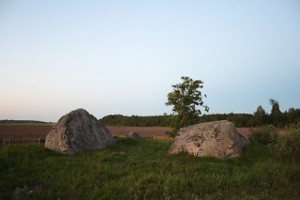 Ice Age stones in the village of Kamenoye